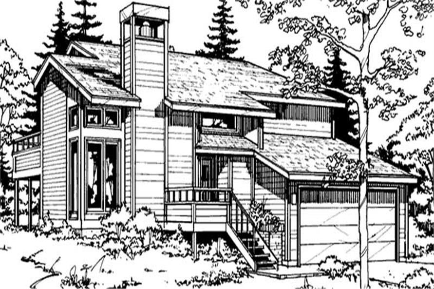 3-Bedroom, 1502 Sq Ft Country Home Plan - 146-2698 - Main Exterior