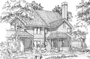 2-Bedroom, 570 Sq Ft Multi-Unit House Plan - 146-2699 - Front Exterior