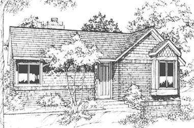 1-Bedroom, 992 Sq Ft Ranch Home Plan - 146-2701 - Main Exterior