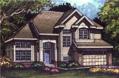 4-Bedroom, 2742 Sq Ft Country Home Plan - 146-2702 - Main Exterior
