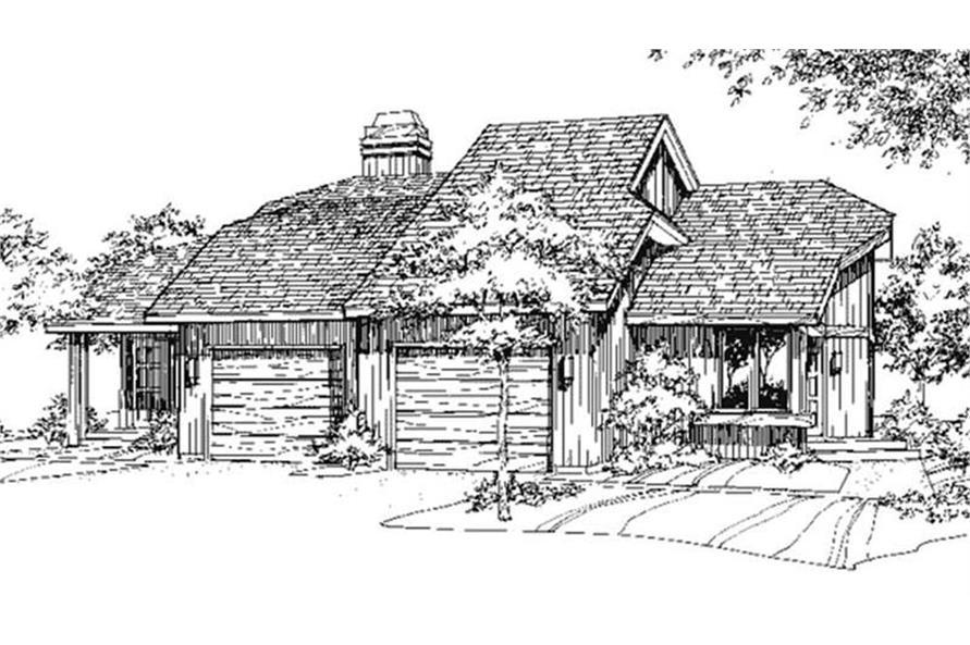 Home Plan Rendering of this 3-Bedroom,1312 Sq Ft Plan -146-2709