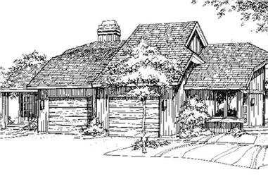 3-Bedroom, 1312 Sq Ft Multi-Unit House Plan - 146-2709 - Front Exterior