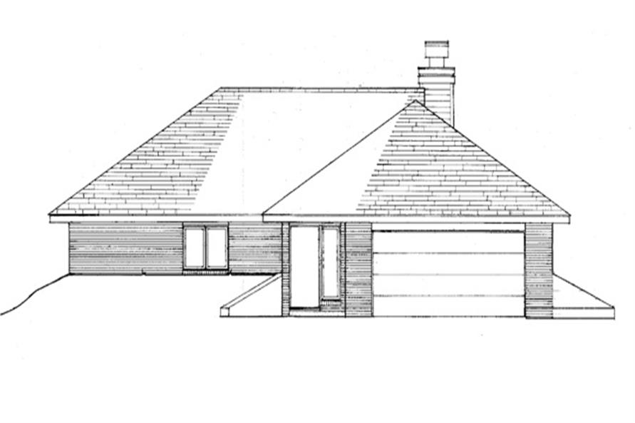 Home Plan Rear Elevation of this 2-Bedroom,1418 Sq Ft Plan -146-2710