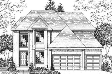 4-Bedroom, 2868 Sq Ft Colonial House Plan - 146-2712 - Front Exterior