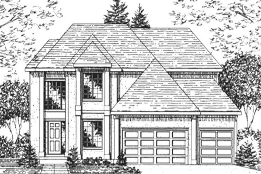 Main image for house plan # 21375