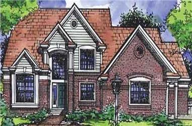 4-Bedroom, 2758 Sq Ft European House Plan - 146-2715 - Front Exterior