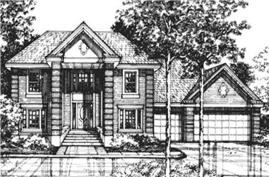 4-Bedroom, 2982 Sq Ft Colonial House Plan - 146-2717 - Front Exterior