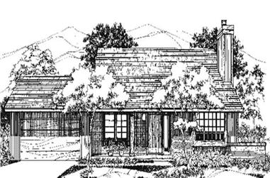 3-Bedroom, 1704 Sq Ft Country House Plan - 146-2720 - Front Exterior