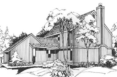 1-Bedroom, 2129 Sq Ft Contemporary House Plan - 146-2721 - Front Exterior