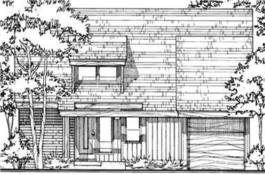 2-Bedroom, 1247 Sq Ft Cape Cod Home Plan - 146-2723 - Main Exterior