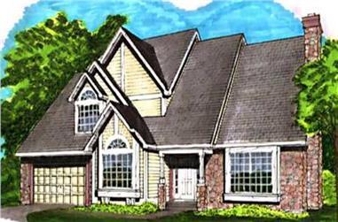 3-Bedroom, 3186 Sq Ft European House Plan - 146-2725 - Front Exterior