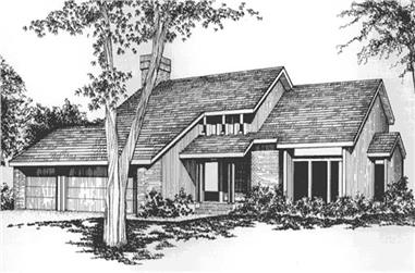 4-Bedroom, 2658 Sq Ft Contemporary Home Plan - 146-2728 - Main Exterior