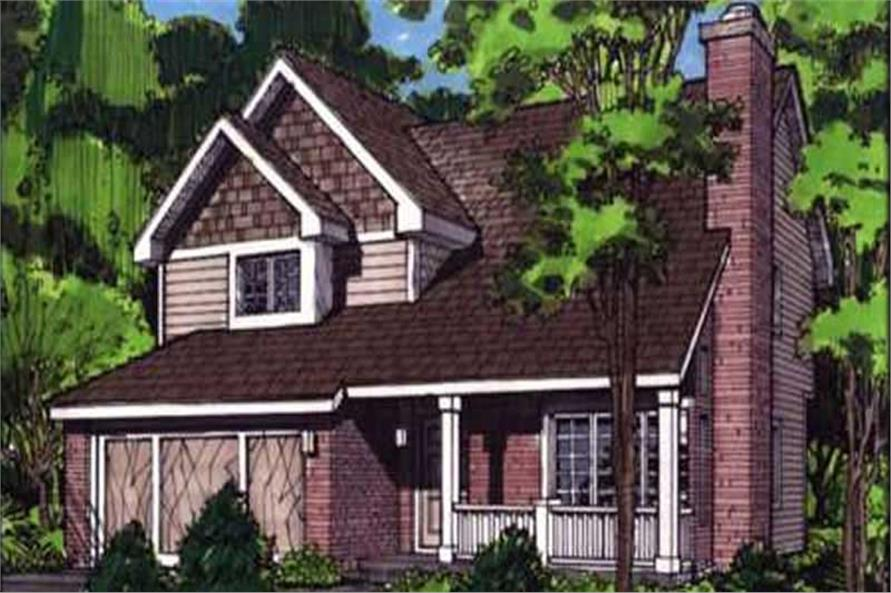 This image shows the front view of Country Home Plans LS-B-92031.