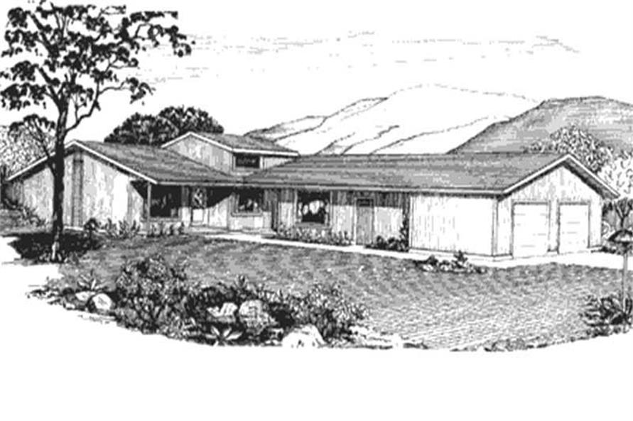 Rendering of Multi-Unit home plan (ThePlanCollection: House Plan #146-2732)
