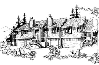 1-Bedroom, 1000 Sq Ft Multi-Unit Home Plan - 146-2733 - Main Exterior