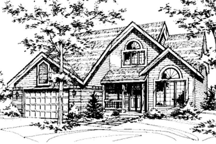 Home Plan Front Elevation of this 3-Bedroom,1724 Sq Ft Plan -146-2735
