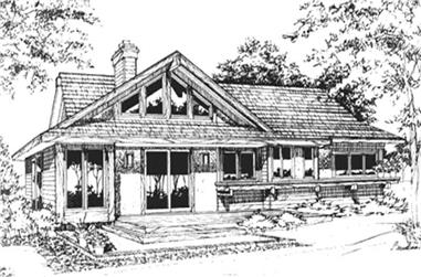 2-Bedroom, 1250 Sq Ft Craftsman Home Plan - 146-2737 - Main Exterior