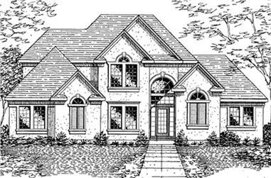 4-Bedroom, 2951 Sq Ft Cape Cod Home Plan - 146-2738 - Main Exterior