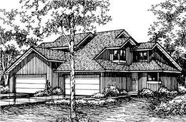 2-Bedroom, 1334 Sq Ft Multi-Unit Home Plan - 146-2742 - Main Exterior