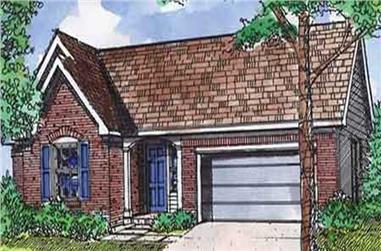 3-Bedroom, 1269 Sq Ft Ranch Home Plan - 146-2744 - Main Exterior