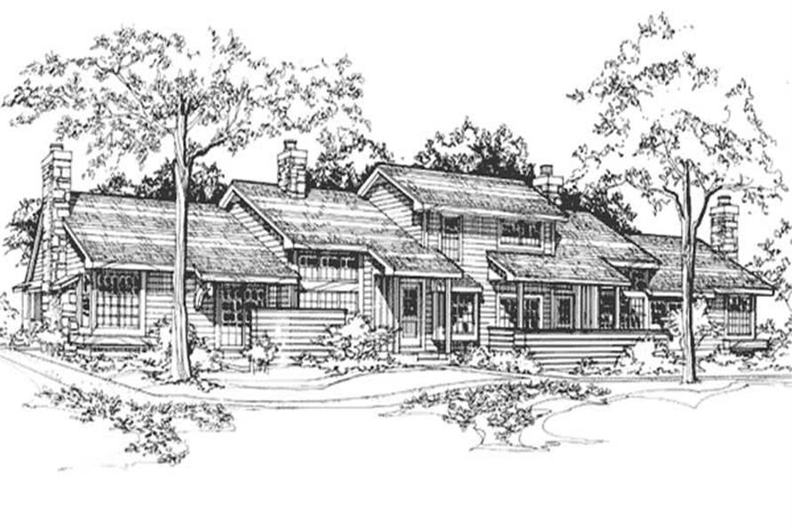 2-Bedroom, 1509 Sq Ft Multi-Unit Home Plan - 146-2746 - Main Exterior