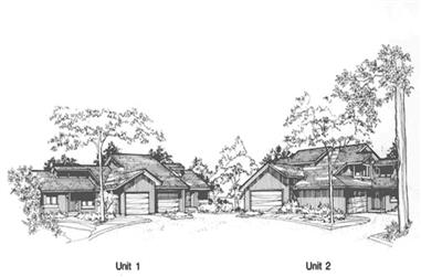 1-Bedroom, 1288 Sq Ft Multi-Unit House Plan - 146-2748 - Front Exterior