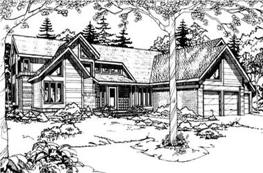 4-Bedroom, 4467 Sq Ft Contemporary Home Plan - 146-2749 - Main Exterior