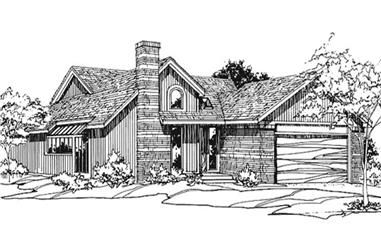 3-Bedroom, 1878 Sq Ft Contemporary House Plan - 146-2754 - Front Exterior