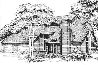 3-Bedroom, 3532 Sq Ft Contemporary Home Plan - 146-2755 - Main Exterior