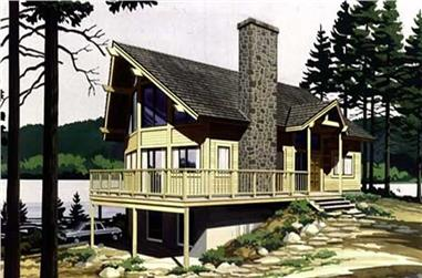 Color Rendering from this home plan