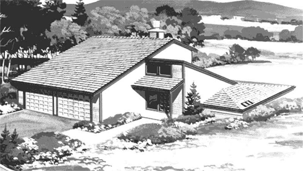 Front View of these house plans