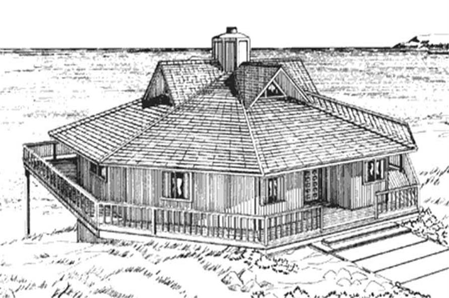 Front Elevation from house plans LS-H-924-1A