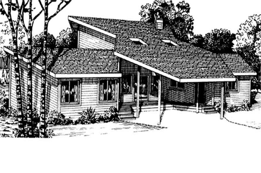 3-Bedroom, 2328 Sq Ft Cape Cod Home Plan - 146-2779 - Main Exterior