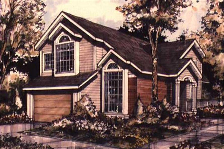 Color Rendering of Country Houseplans LS-B-89073.