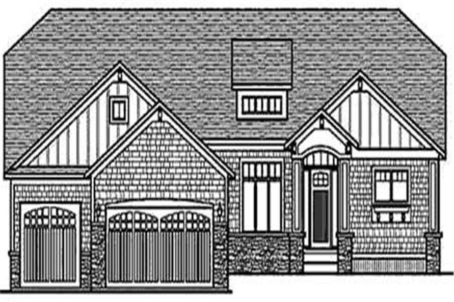 Home Plan Front Elevation of this 3-Bedroom,2109 Sq Ft Plan -146-2784