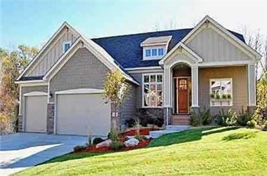 3-Bedroom, 2109 Sq Ft Country Home Plan - 146-2784 - Main Exterior