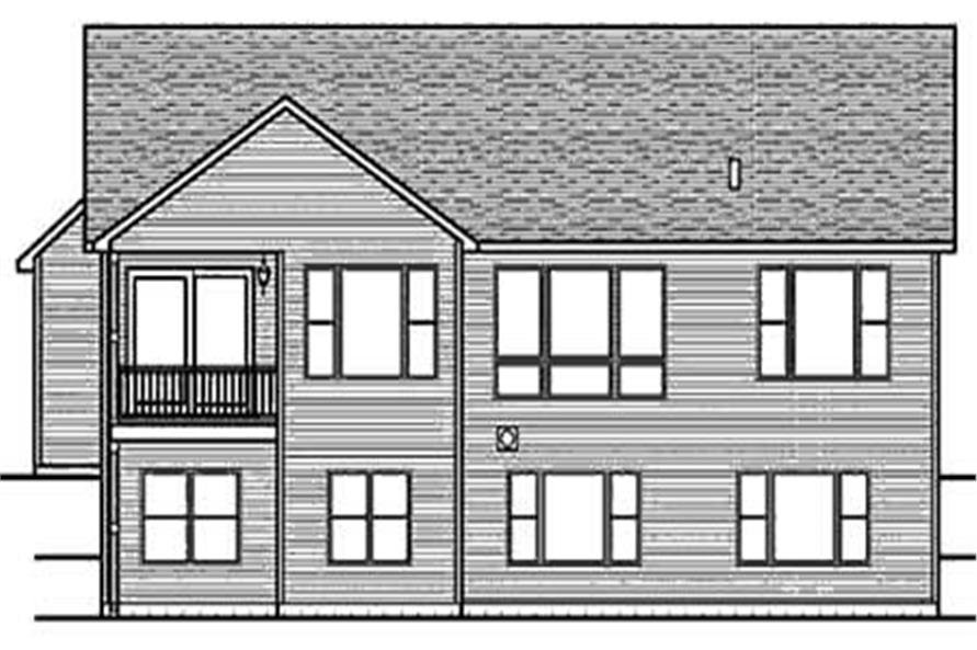 Home Plan Rear Elevation of this 2-Bedroom,1728 Sq Ft Plan -146-2785