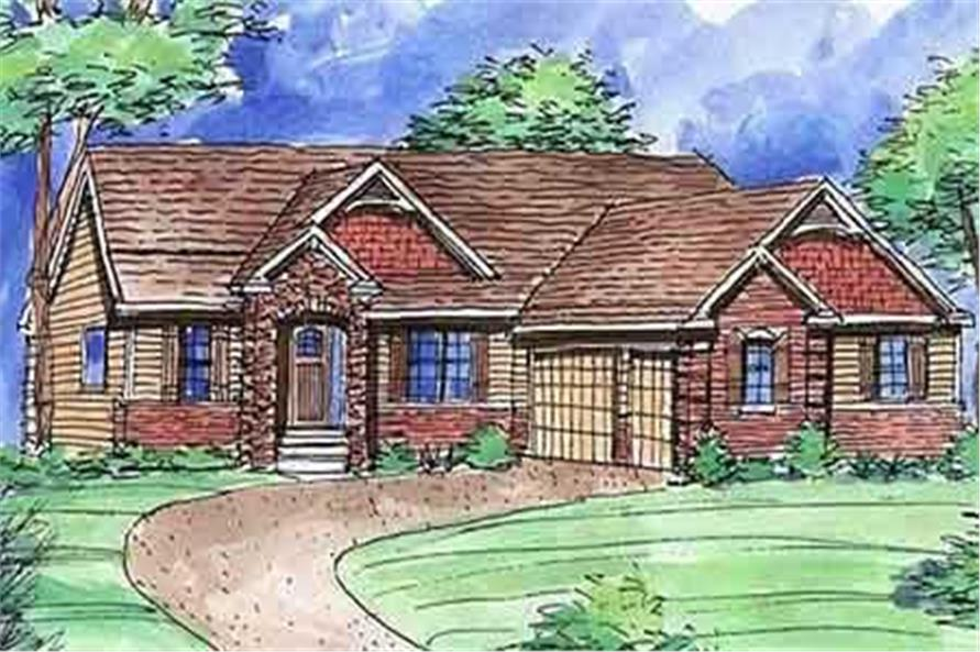 2-Bedroom, 1728 Sq Ft Country House Plan - 146-2785 - Front Exterior