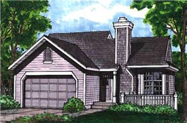 2-Bedroom, 988 Sq Ft Country Home Plan - 146-2790 - Main Exterior
