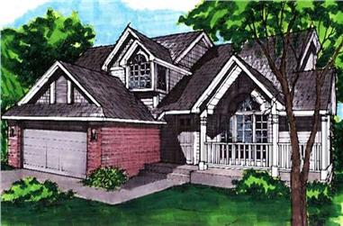 3-Bedroom, 2109 Sq Ft Country House Plan - 146-2791 - Front Exterior