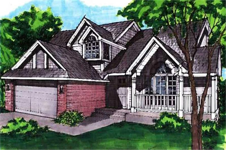 This image shows the front elevation for Houseplans LS-B-92015.