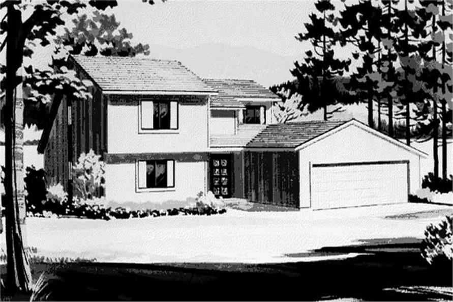 Front View of the house plan