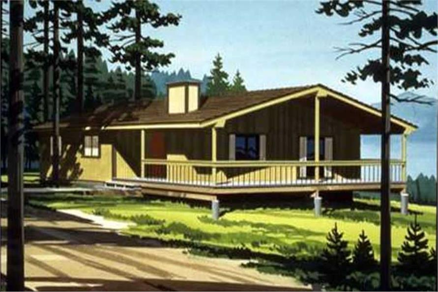 Color Rendering to this house plan.