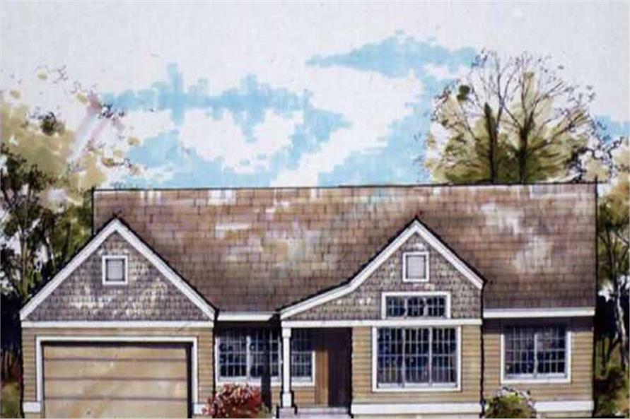 3-Bedroom, 1636 Sq Ft Country Home Plan - 146-2807 - Main Exterior