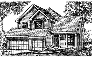 4-Bedroom, 2469 Sq Ft Country House Plan - 146-2808 - Front Exterior