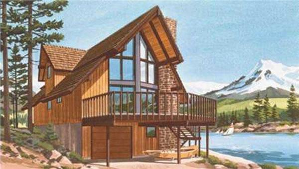 This is a colored photo of Vacation Houseplans LS-H-886-3.