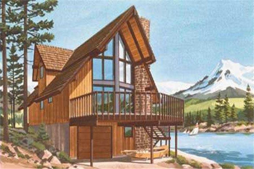 A-Frame Home Plans - Home Design Ls-H-886-3