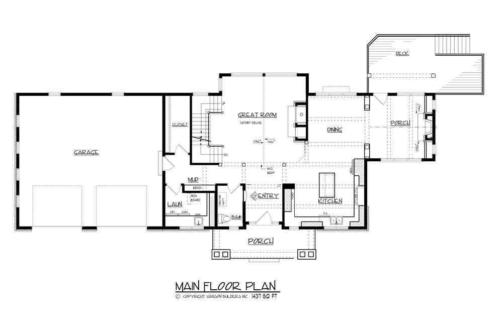 146-2810: Floor Plan Main Level