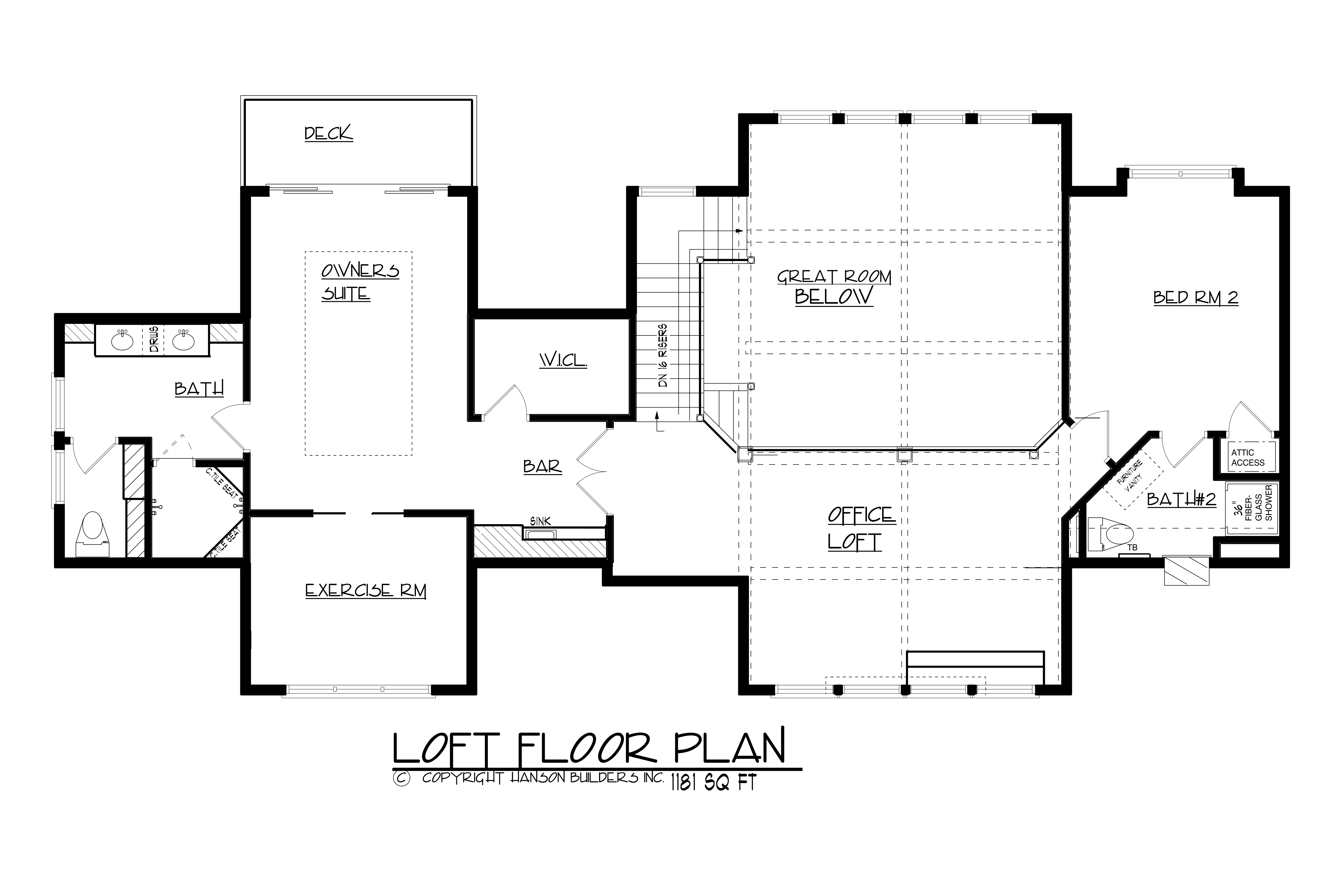 146-2810: Floor Plan Upper Level