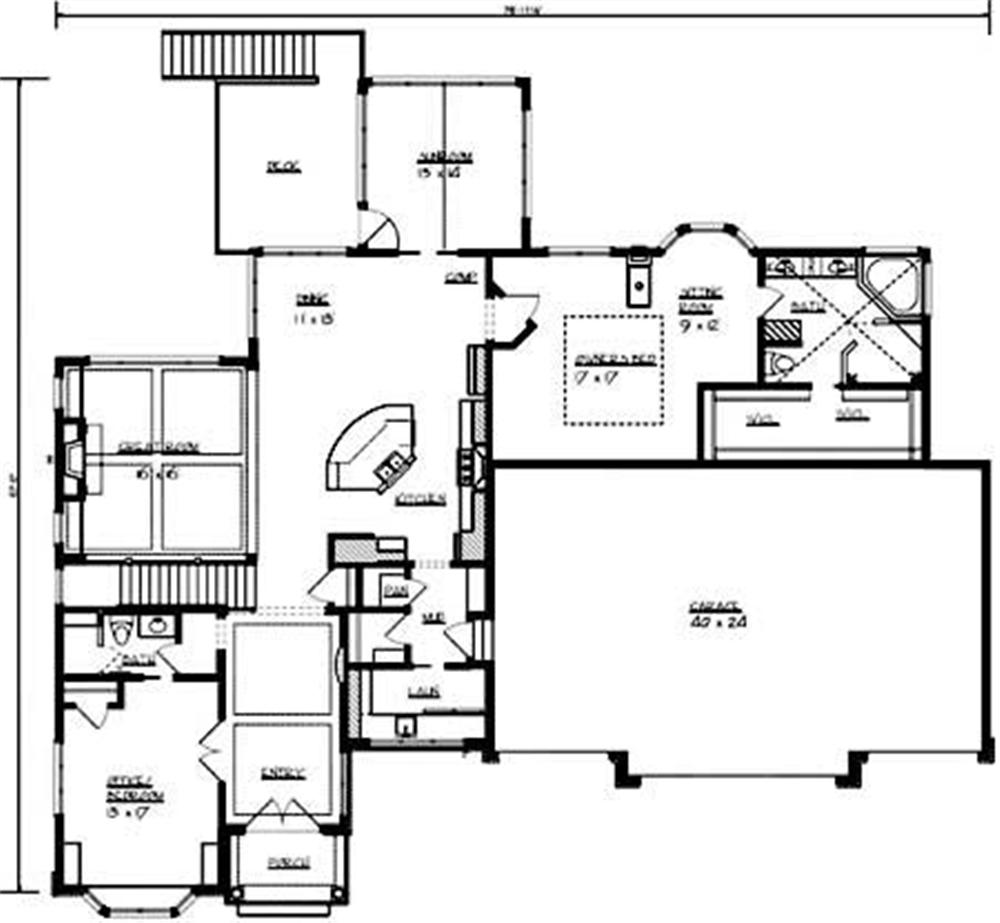 Large images for house plan 146 2811 for 2nd story floor plans